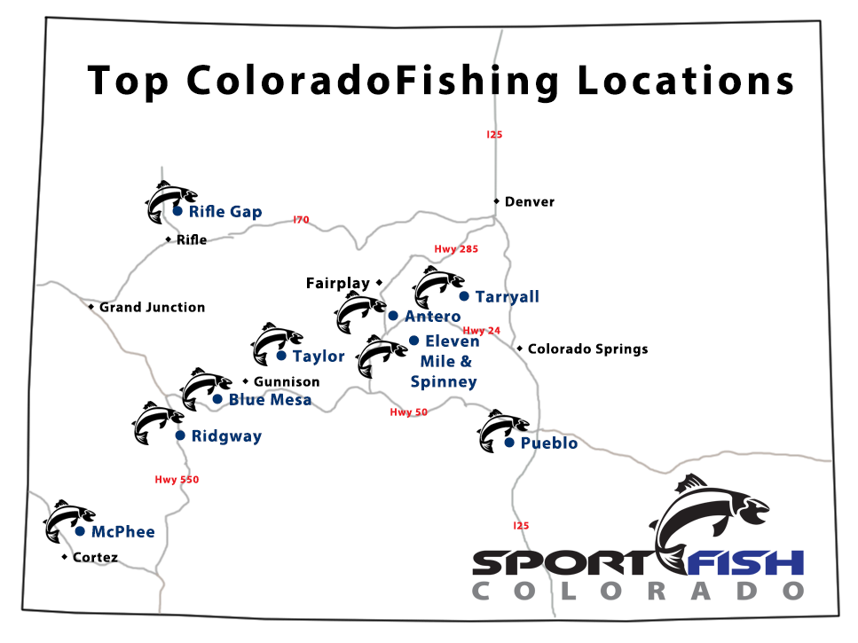 Click here for top Colorado Fishing Locations Map