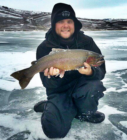 Dillon Matthews Colorado Ice Fishing Guide